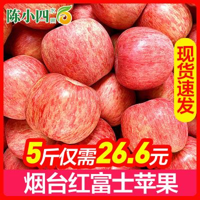 陳小四水果 山東煙臺 紅富士蘋果 帶箱5斤裝 80# 新鮮水果 國產生鮮 其他