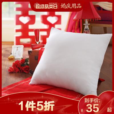 LOVO樂蝸家紡羅萊生活出品純色沙發抱枕芯蓬松透氣床頭靠枕芯婚慶靠墊芯腰枕腰靠枕布藝