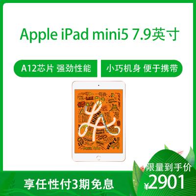2019款 Apple iPad mini5 7.9英寸 平板電腦(64GB WLAN版 MUQY2CH/A 金色)