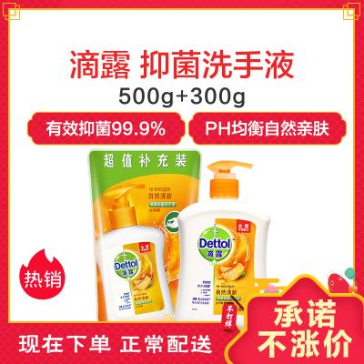 滴露抑菌自然清新洗手液500g+300g
