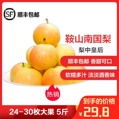 【中华特色】营口馆 鞍山南果梨5斤装南国梨24~30枚梨子水果 东北