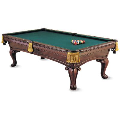 健倫(JEEANLEAN)原實木雕刻臺球桌定制標準型美式黑八成人花式九球家用室內別墅歐式桌球臺