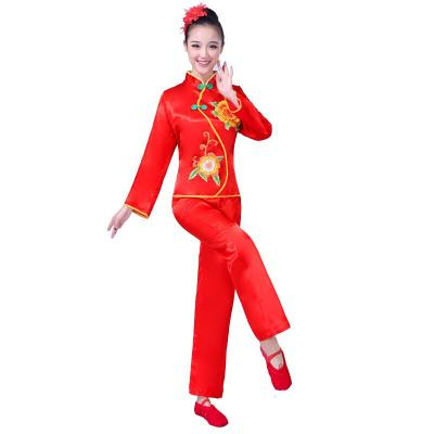 秧歌服2018扭秧歌扇子舞蹈服演出服現代廣場舞服裝成人女套裝