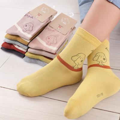 六指鼠男童女童女寶中大童兒童襪子春秋秋冬秋季純棉襪薄款中筒襪