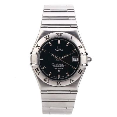 【二手95新】歐米茄/OMEGA 星座系列藍盤男表 1502.40.00自動機械鐘表手表腕表日歷刻度