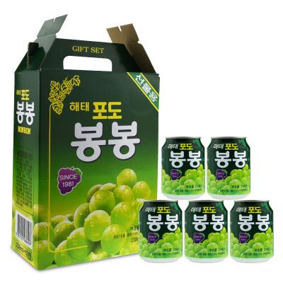 韓國進口海太(HAITAI)葡萄汁238mlx12瓶整盒裝進口飲料