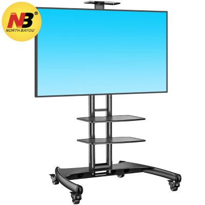 NB AVA1500-60-2P 黑色(32-65英寸)液晶電視移動推車視頻會議支架激光電視架多媒體教學移動落地支架掛架