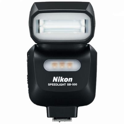 尼康 (Nikon) SB-500闪光灯 适用于尼康单反相机 小巧轻便 内置LED灯 灯头可左右水平旋转