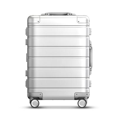 小米(MI)米家90分鋁鎂合金旅行箱拉桿箱 男女萬向輪登機行李箱 20寸 銀色通用