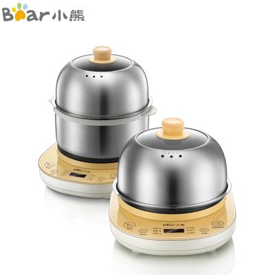 小熊(Bear)煮蛋器 家用單雙層預約定時蒸蛋器 微電腦多功能不銹鋼早餐機神器 自動斷電迷你煎蛋器鍋 ZDQ-A14E6