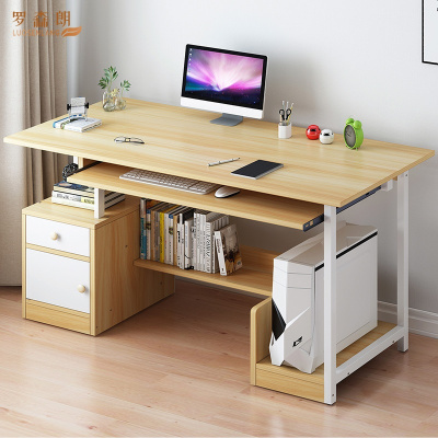 羅森朗 臺式電腦桌書桌簡約家用經濟型學生臥室省空間鋼架辦公寫字小桌子