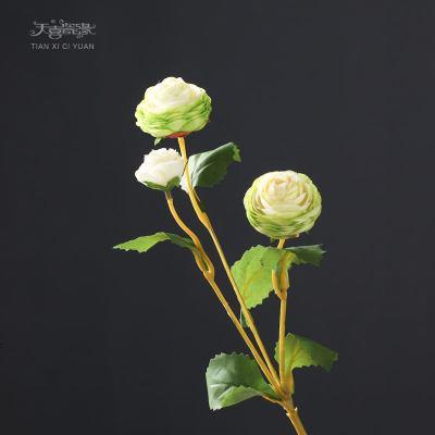 客廳裝飾仿真花假花小露蓮 餐桌時尚仿真花藝擺設室內家居插花束