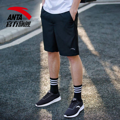 ANTA安踏運動短褲男跑步健身官男裝夏季休閑薄款速干籃球訓練五分褲95727301