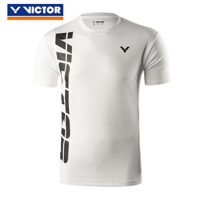 VICTOR/威克多 羽毛球服夏季男女款訓練系列羽毛球服 圓領短袖針織T恤 90023 90201