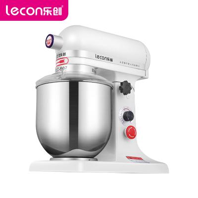 樂創(lecon)鮮奶機 LC-B07 商用和面機 7升小型家用蛋糕攪拌機奶油打蛋器 私房烘焙必備多功能全自動廚師機