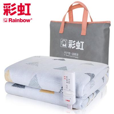 彩虹(RAINBOW)單人電熱毯 電褥子(1.8*0.8米) 除螨排潮 安全單控遇水不漏電