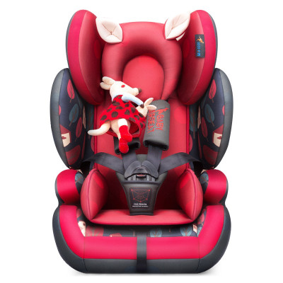 貝貝卡西安全座椅9月-12歲兒童安全座椅3C認證汽車車用嬰兒車載寶寶座椅LB509 靜謐叢林