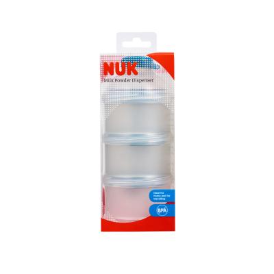 德國NUK奶粉盒零食盒 嬰兒定量儲存盒便攜PP材質(三層可拆卸)(顏色隨機發貨)