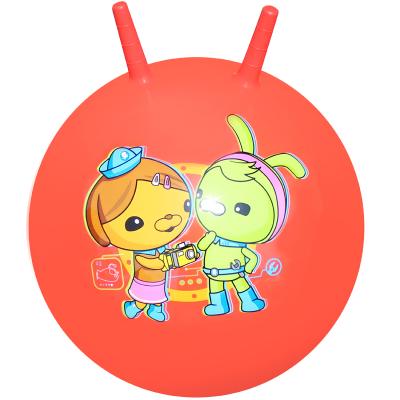 海底小纵队(OCTONAUTS) 儿童玩具球 宝宝跳跳球羊角球45cm(红色 赠充气脚泵)H1007H1