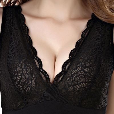 BPMA女士保暖背心帶胸墊超柔絨塑身美體V領雙層加絨加厚保暖內衣女【2月29號發完】