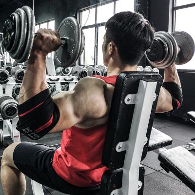 因樂思(YINLESI)力量舉護肘繃帶健身手套護具舉重運動助力帶護手肘臥推男