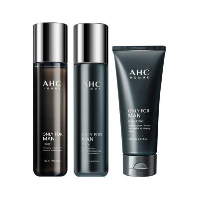 AHC 男士護膚品水乳潔面三件套 提亮膚色 緊致肌膚 面部護膚套裝
