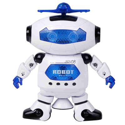 酷伴樂 炫舞機器人會唱歌跳舞電動機器人360度旋轉燈光音樂玩具兒童玩具 白色