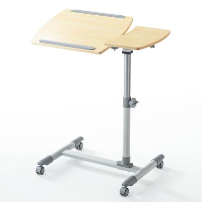 山業 (SANWA)移動電腦桌 雙面板可升降學生桌 演講沙發桌 懶人桌 簡約床邊桌辦公桌帶剎車輪100-DESK040M
