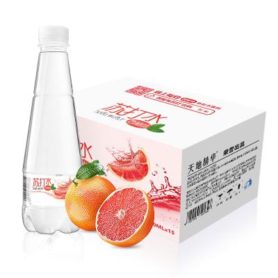天地精華 西柚味無氣無糖蘇打水410ml*15瓶/箱 弱堿性果味飲料