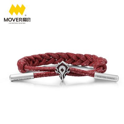 《魔兽》暴雪正版授权 Mover魔吻 魔兽世界 联盟徽记腕带 部落徽记腕带 编织手链手绳饰品