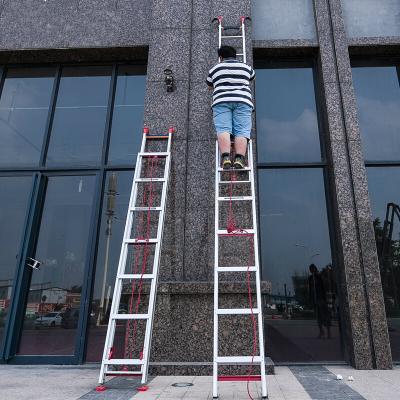 铝合金伸缩梯子家用加厚长高单面升降工程直梯便携爬6/8/10米 直梯(收2.2米升3.4米)净重10kg