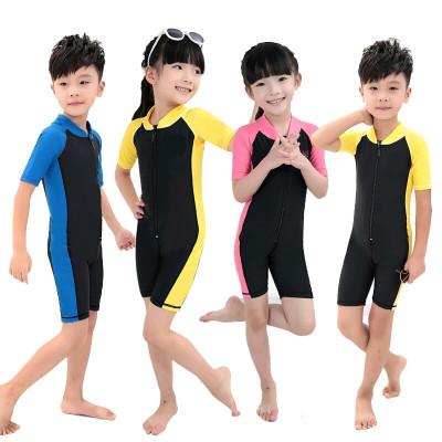 学生训练儿童泳衣 大中小童连体游泳衣男女童宝宝泳装 衫伊格(shanyige)