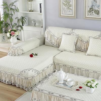 六月荷 布藝防滑全蓋沙發坐墊全包萬能沙發套巾