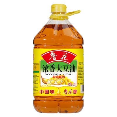 鲁花 食用油 非转基因 大豆油 5L