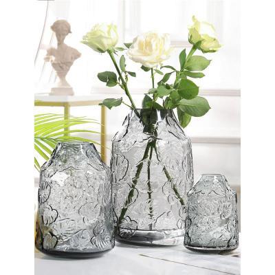 輕奢玻璃花瓶透明水培插花瓶家用擺設創意家居客廳餐桌裝飾品擺件