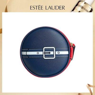 雅詩蘭黛春季海軍藍紅色圓形手提化妝包
