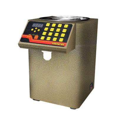 商用奶茶店咖啡店设备 专用电脑版精准小型台式16格果糖定量机