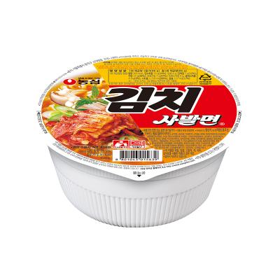 農心韓國進口韓式辣白菜拉面碗面86g*6方便面 泡面碗裝面 整箱裝