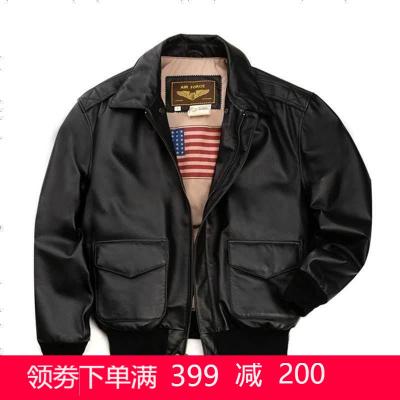 【滿699-200,1件649元】Luxury Lane男士真皮皮衣 二戰經典A2空軍飛行夾克外套