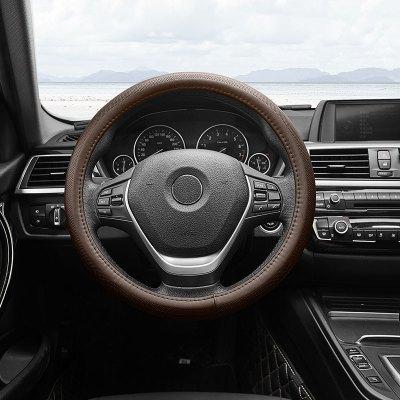 小米生態 邁未 汽車方向盤套 四季真皮透氣把套車型通用 TN-FT02 O型咖啡色