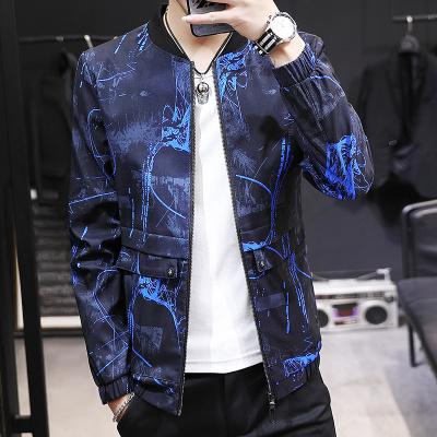 男士外套机能风潮流棒球衣服2019秋冬季新款加绒加厚上衣男装夹克 款式十八蓝色 170/L偏小半码