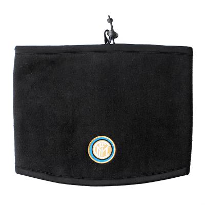 國際米蘭俱樂部官方新品冬季男子二合一抓絨帽子運動戶外跑步騎行圍脖 黑色