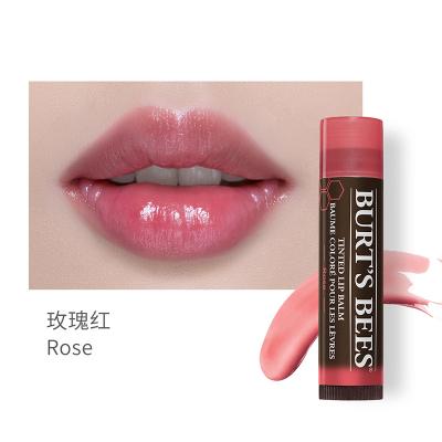 美國Burt's Bees伯特小蜜蜂天然淡彩口紅潤唇膏玫瑰紅4.25g 保濕滋潤 防干裂 修護 孕婦可用