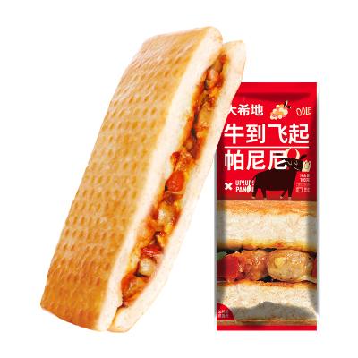 【2.1号发货】【满299-160】大希地 牛到飞起烧烤牛肉味帕尼尼 100g*3个 口感香脆 早餐 零食 西式汉堡