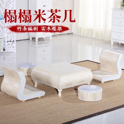 榻榻米茶几电脑桌飘窗桌欧式现代简约日式地台桌炕桌竹编小桌