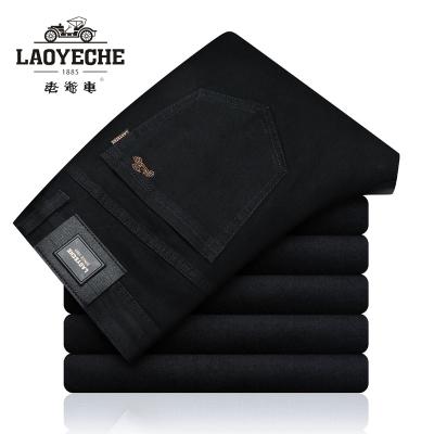 老爷车(laoyeche)牛仔裤 男士冬款修身直筒宽松休闲裤子男冬天厚款男装长裤子青年男士牛仔裤