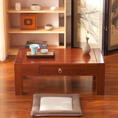 尋木匠老榆木抽屜桌飄窗桌榻榻米茶幾地臺矮桌炕桌茶藝桌炕桌國學桌