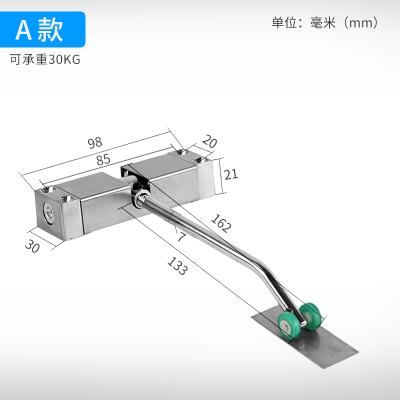 定做 電子自動閉門器家用小型簡易彈簧閉門器隱形合頁免開槽 回位回彈自動關門