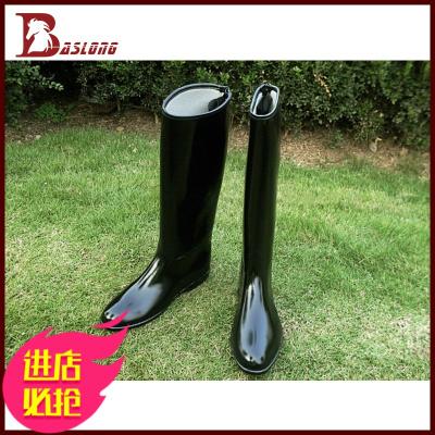 八尺龍 PVC馬靴長筒靴拉鏈馬術用品馬房用品