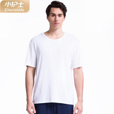 小護士2019年春夏新款睡衣男士短袖T恤莫代爾圓領打底上衣舒適運動汗衫XAD8101